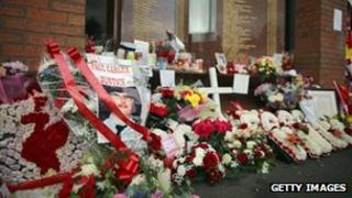 Tributes at Anfield