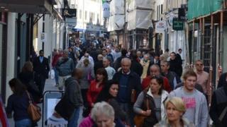 St Helier shoppers