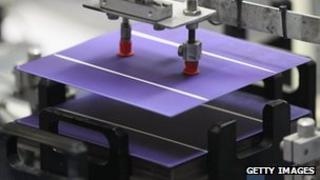 Photovoltaic cells being manufactured in Germany