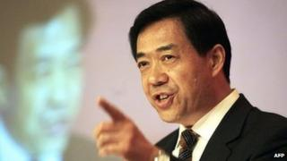 Bo Xilai speaking in India as China's trade minister in 2006