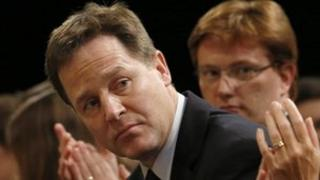 Nick Clegg at the Lib Dem conference