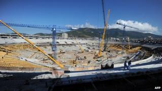 Rebuilding of Maracana stadium in Rio