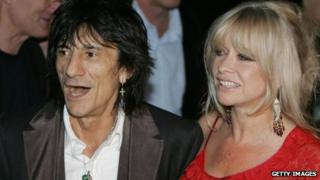 Ronnie Wood and ex-wife Jo Wood