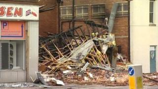 Scene of explosion