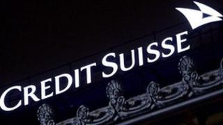 Logo outside Credit Suisse headquarters