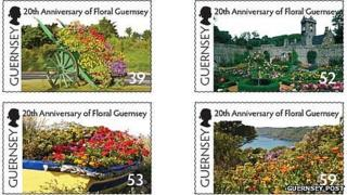 Floral Guernsey stamps