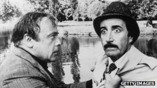 Herbert Lom and Peter Sellers in The Pink Panther Strikes Again