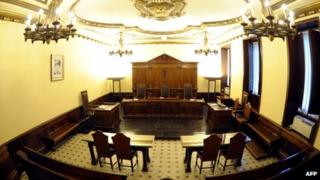The Vatican courtroom where Paolo Gabriele is being tried (picture taken 27 September)