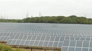Solar panels in New Forest