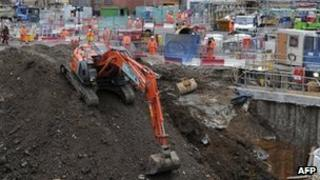 Work on the Crossrail project in central London