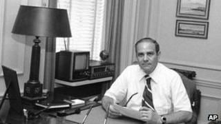 July 20, 1977 photo shows New York Times publisher Arthur Ochs Sulzberger