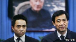 Bo Guagua and Bo Xilai in 2007