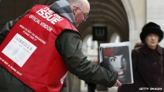 A man selling the Big Issue