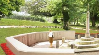 An artist's impression of how the war memorial will look