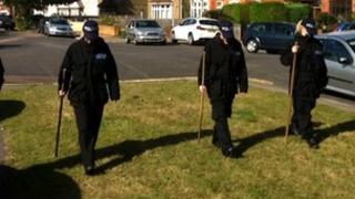 Police searching in Clacton