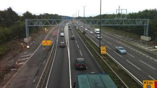 Traffic on the M4 near Bristol