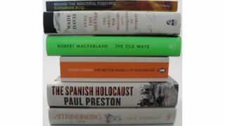 The six books shortlisted for the Samuel Johnson Prize