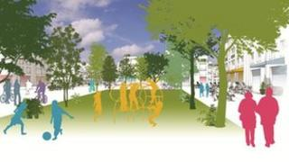 Artist's impression of part of the Beyond Green development