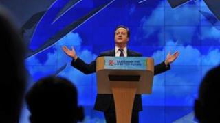 David Cameron speaking at 2011 Conservative conference