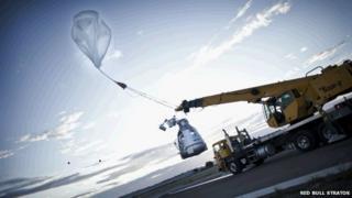 Launching the balloon
