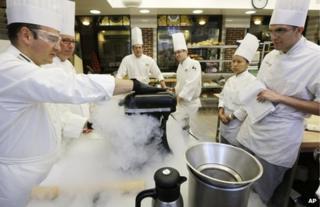 chefs with liquid nitrogen