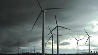Wind farm near Burgos, Spain - file pic