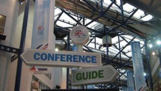 Sign at Conservative Party conference