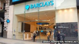 Barclays branch in central London