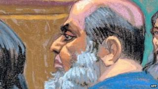 Khaled al-Fawwaz in court in New York (6 Oct)