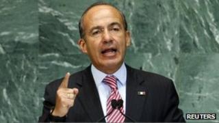 Felipe Calderon, file picture from September 2012