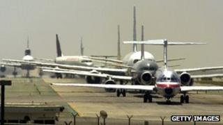 Planes at Los Angeles International Airport
