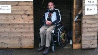 Steve Redman in his shed