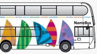 Bus impression with sail design