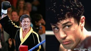Sylvester Stallone (in Rocky Balboa) and Robert De Niro (in Raging Bull)