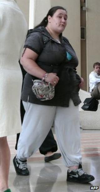 Gang rape victim Nina arriving in court in Creteil, Paris, 19 September