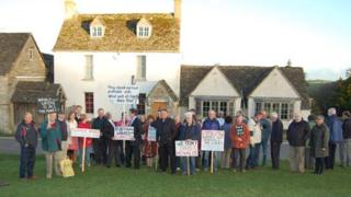 Campaigners outside the Halfway House