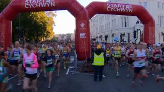 Cardiff half marathon 2012 start