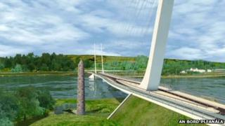 CGI model of the bridge at Narrow Water