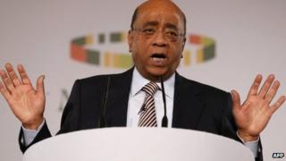Mo Ibrahim at the ceremony 15/10/12
