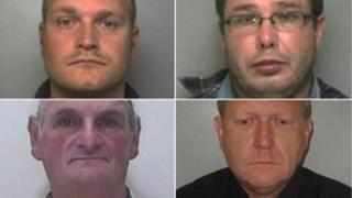 Simon Wyn-Davies, Peter Malpas, Anthony Flack and Nicholas Cordery