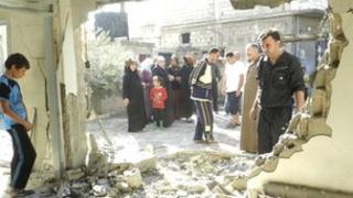 Shelled house in Houla, near Homs, Syria, on 15/10/12
