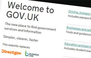 Screenshot of gov.uk