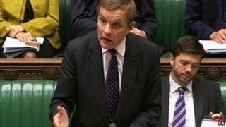 David Jones at his first Welsh Questions