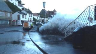 High tide at Lynmouth