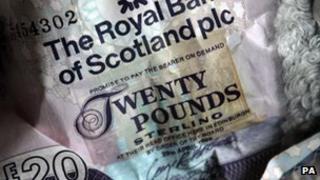 An RBS £20 note