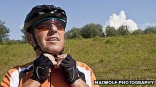 Older cyclist