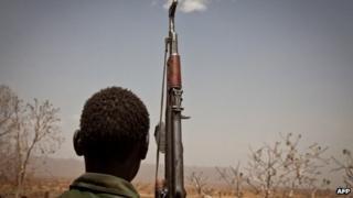 An SPLM-North rebel soldier. File photo