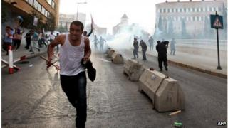 Protest in Beirut, Lebanon (21 Oct 2012)
