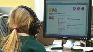 Child practising online numeracy assessment