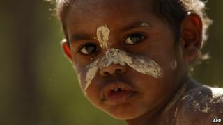 File photo: Aboriginal boy at a community cultural festival in Australia, 2011